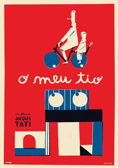 Mon oncle por Catarina Sobral. Jacques Tati. 6 Carteles creados por ilustradores portugueses, 2016