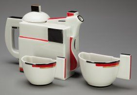 A Kazimir Malevich Glazed Porcelain Suprematist