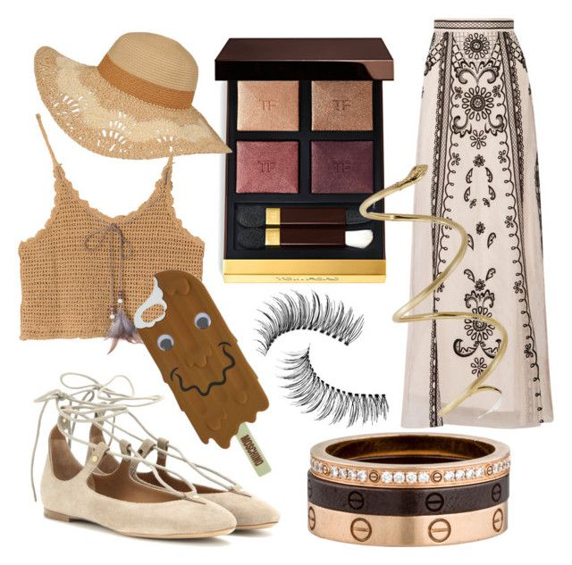 """""""Untitled #4"""" by phoebez657 on Polyvore featuring Temperley London, Chloé, Tom Ford, Cartier, Trish McEvoy and Moschino"""