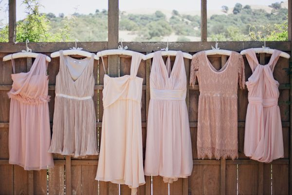 soft blush pink bridesmaid dresses // photo by Edyta Szyszlo