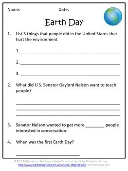 Earth Day Activities: Your students will learn about Earth Day with these fun worksheets!  In this product you will receive worksheets with questions that go along with the book Earth Day (Read-About-Holidays) by Trudi Strain Trueit. These worksheets could also be used with your own unit. The questions are short answer, fill in the blank, and true/false. There is also an Earth Day writing prompt worksheet, an Earth Day coloring worksheet, and an Earth Day vocabulary worksheet. Each worksheet…