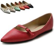 ollio Shoes Ballet Pointed Toe Multi Color Flats from Fashion Stylist