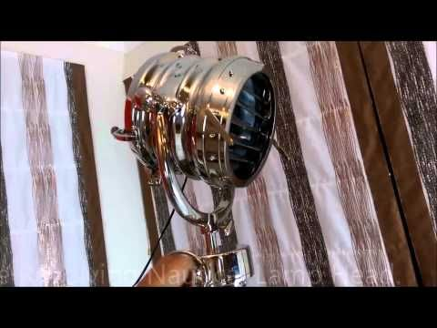 Alayna - Titanic Nautical Style Tripod Floor Lamp