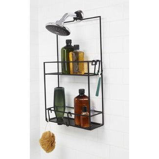 """Features:  -2 Extra wide ABS shelves.  -Rust resistant: Yes.  Product Type: -Shower Caddies/Shower Shelf.  Color: -Black.  Material: -Plastic. Dimensions:  Overall Height - Top to Bottom: -25.5"""".  Ove                                                                                                                                                     More"""