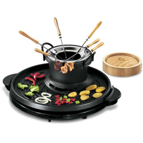 fondue with grill set must have fondue fool pinterest. Black Bedroom Furniture Sets. Home Design Ideas