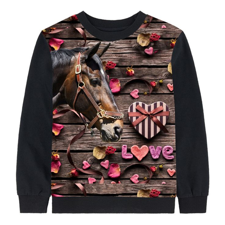 boy clothing tees autumn kids tops baby girl brand Long sleeve tops child love horse Children clothing kids t shirt children //Price: $28.00 //     #baby