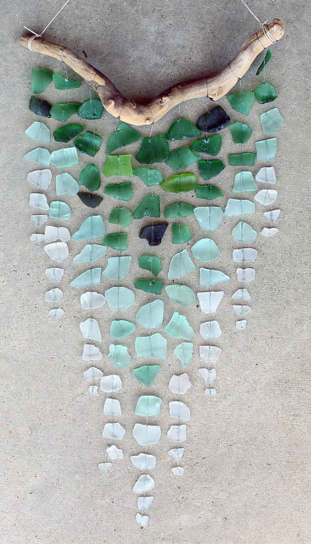 Sea Glass & Driftwood Mobile                                                                                                                                                                                 More