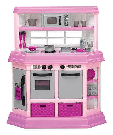 Love this Pink Play Kitchen by American Plastic Toys on #zulily! #zulilyfinds