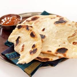 Indian Flatbread (Naan) Recipe - America's Test Kitchen: America Test Kitchens, Naan Recipes, Tenders Interiors, Americas Test Kitchen, Cooking Illustrations, Indian Flatbread, Flatbread Naan, Indian Food, Naan Baking