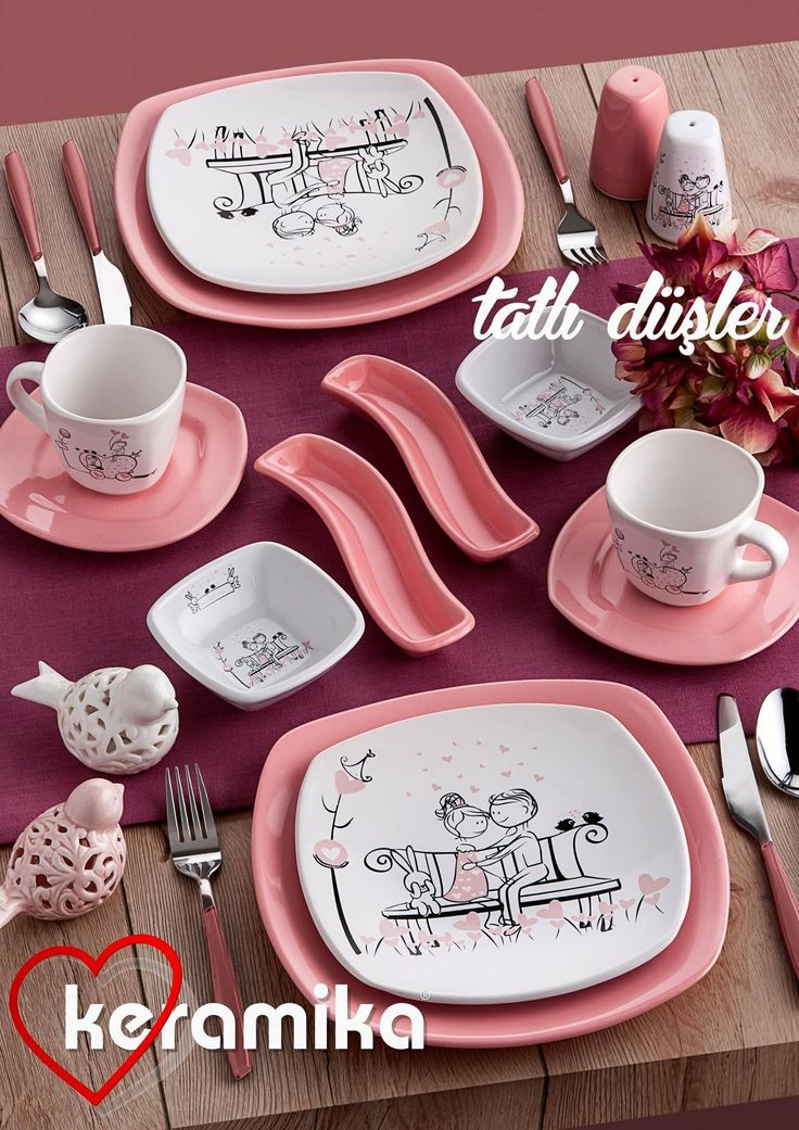 http://www.keramikashop.com/ www.keramika.com.tr,#tatlidus #tatlıdüşserisi  #pembe #beyaz #pink #white #love #ask www.facebook.com/pages/Keramika-Seramik #http://instagram.com/keramikashop #keramika #seramik #mutfak #mutfaklarinizirenklendiriyoruz