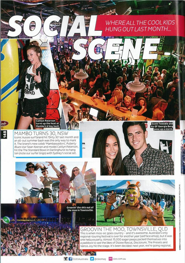 Our Mambo 30th party went down a treat with Sydney locals as covered in the July issue of Cleo.