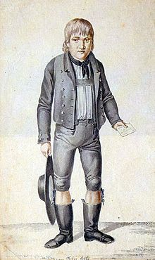 Kaspar Hauser (30 April 1812 (?) – 17 December 1833) was a German youth who claimed to have grown up in the total isolation of a darkened cell. Hauser's claims, and his subsequent death by stabbing, sparked much debate and controversy. Theories propounded at the time linked him with the grand ducal House of Baden. These have long since been rejected by professional historians