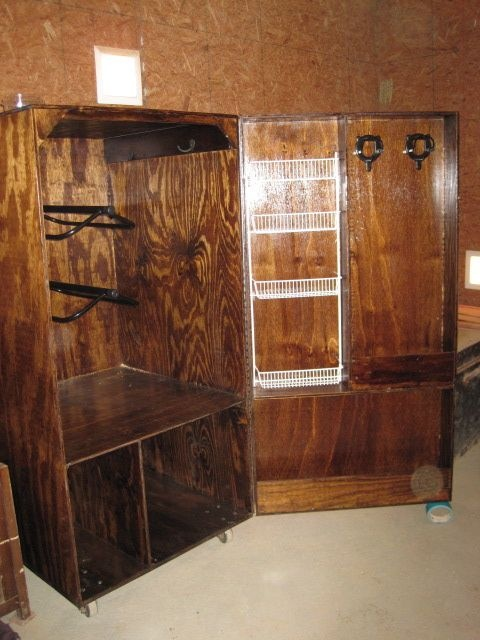 The Tack Box I designed and had built in 2010. More at: Diary of the Overanxious Horse Owner