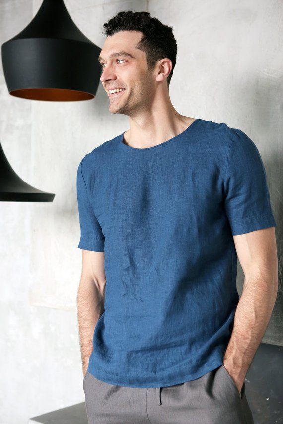 6c7d4896a89 Mens linen t-shirt Summer t-shirt Shirt for men Organic clothes ...