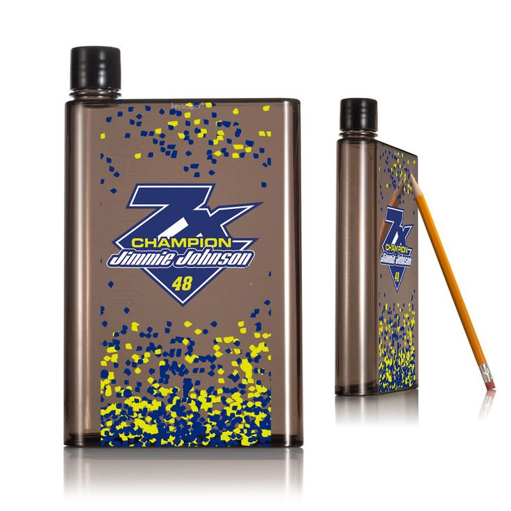 Jimmie Johnson 2016 Sprint Cup Champion 14oz. Smoke Flat Water Bottle