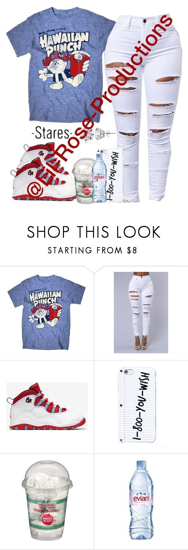 """""""🤙🏽"""" by lil-rose-productions ❤ liked on Polyvore featuring Archer, NIKE, Evian, Icz Stonez and AG Adriano Goldschmied"""