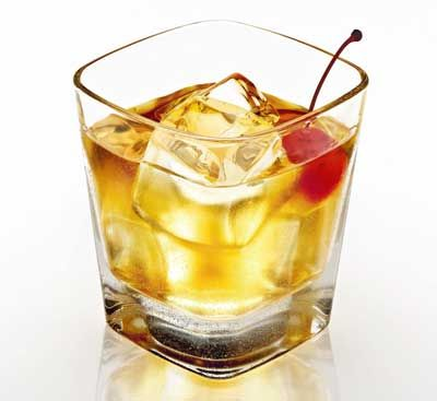 Amaretto Sour - my favorite, tastes like liquid marzipan!  2 ounce Amaretto  1 ounce Lemon Juice  Icecubes