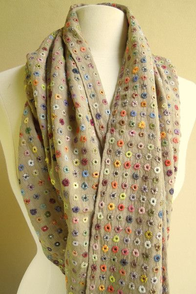 Ulysses scarf — French Needlework Kits, Cross Stitch, Embroidery, Sophie Digard — The French Needle