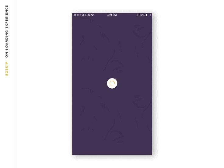 Goskip iOS App Motion Design / Julien Renvoye