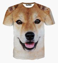 Letní ženy / muži móda 3d t tričko roztomilých Shiba Inu dog dóže živočišné trička s krátkým rukávem pánské ležérní tričko Trička (Čína (pevninská část))