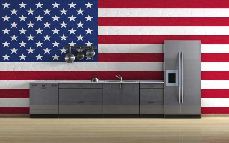 25 beste idee n over koelkasten op pinterest koelkast bewaring retro koelkast en vintage - Moderne amerikaanse keuken ...