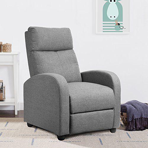 Pleasing Jummico Adjustable Linen Recliner Chair Home Theater Single Dailytribune Chair Design For Home Dailytribuneorg