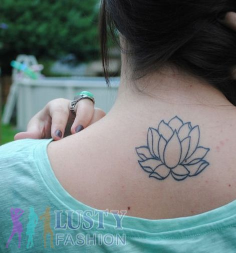 100 ideas to try about tats buddhist art on back and for Small lotus tattoo