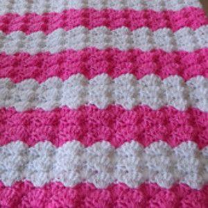 Pink Shell Baby Blanket | AllFreeCrochet.com