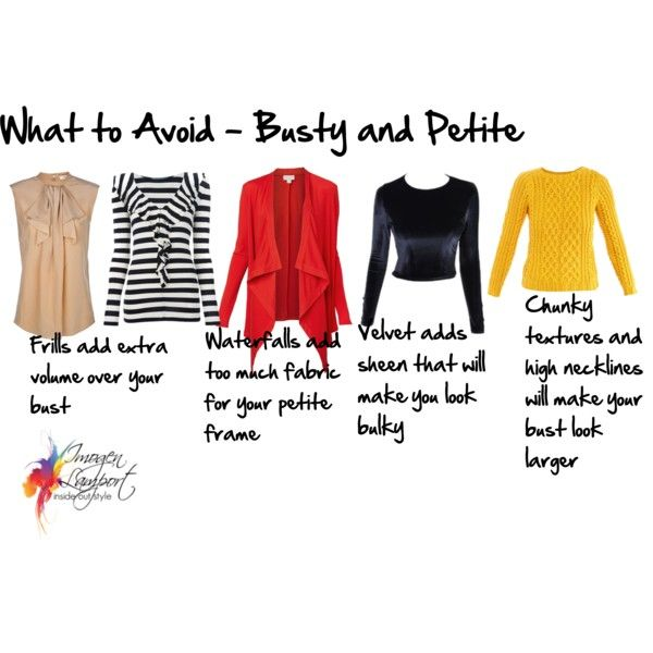 ♕ Curvy Girl | What to Avoid busty petites by imogenl, via Polyvore