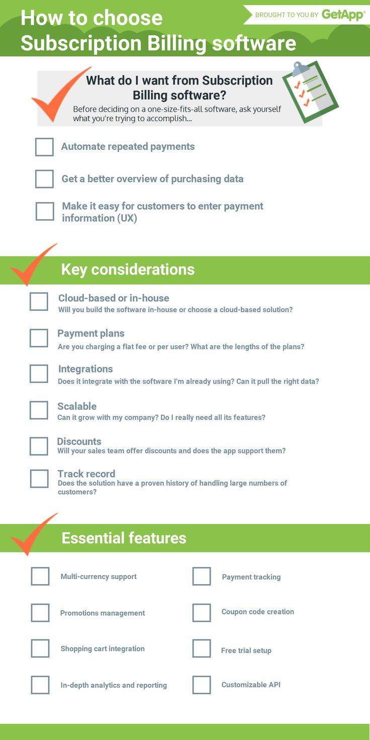 What to look for in Subscription Billing Software: A Handy Checklist.