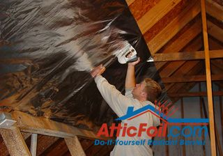 The goal of adding a radiant barrier in your attic is to cover as much of the underside of the roof as possible. You want to add the foil on all surfaces that make...