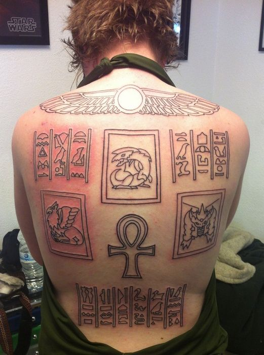 Marik 39 s tattoo on another note this person wow for Marik ishtar tattoo