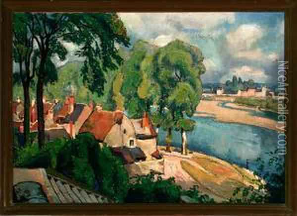 France: oil painting by Einar Wegener -
