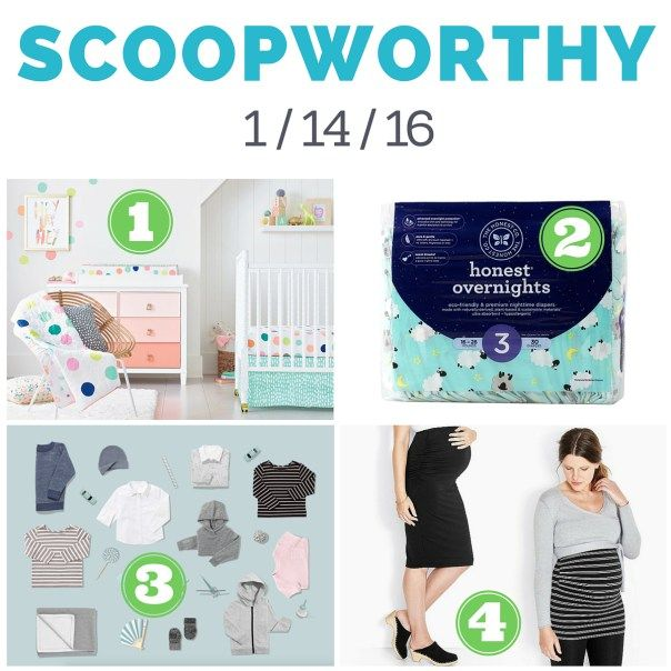 Scoopworthy 1-14-16: 1) Oh Joy! for Target; 2) Honest overnight diapers; 3) Everlane kids collection; 4) Hanna Andersson maternity collection | TotScoop