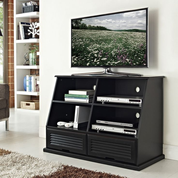 Belham Living Keaton Cubby TV Stand   Black   We Designed The Keaton Cubby TV  Stand In Black Based On Customer Preferences For Storage, Quality, ...