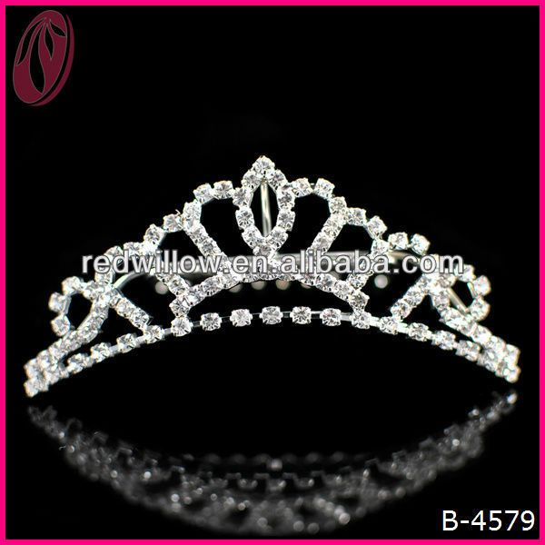 Real Diamond Crowns And Tiaras For Bridal Hair Jewelry