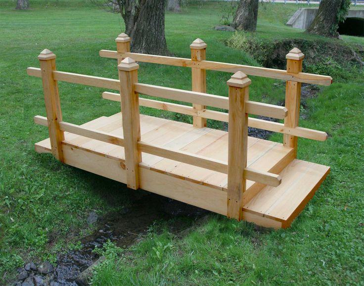 Free small wooden bridge plans woodworking projects plans for Garden pond bridges sale
