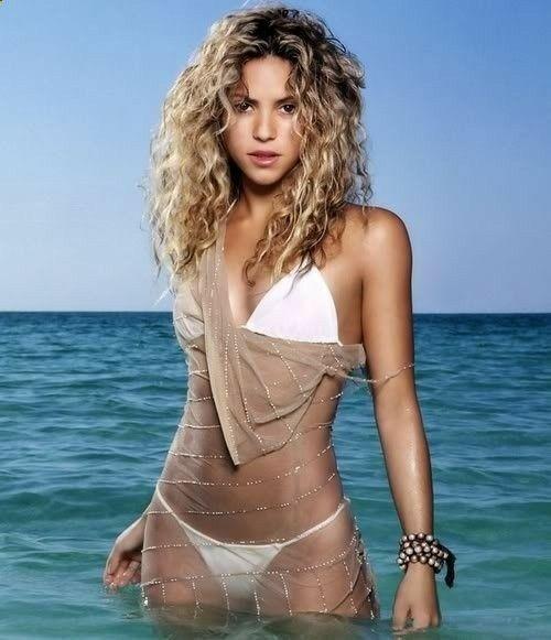 Shakira in a Sexy White Bikini