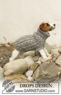 DROPS Design ~ PULL pour chien a torsades..Modèles gratuits de tricot