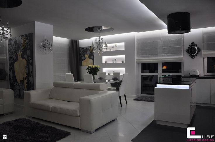 Salon styl Glamour - zdjęcie od CUBE Interior Design