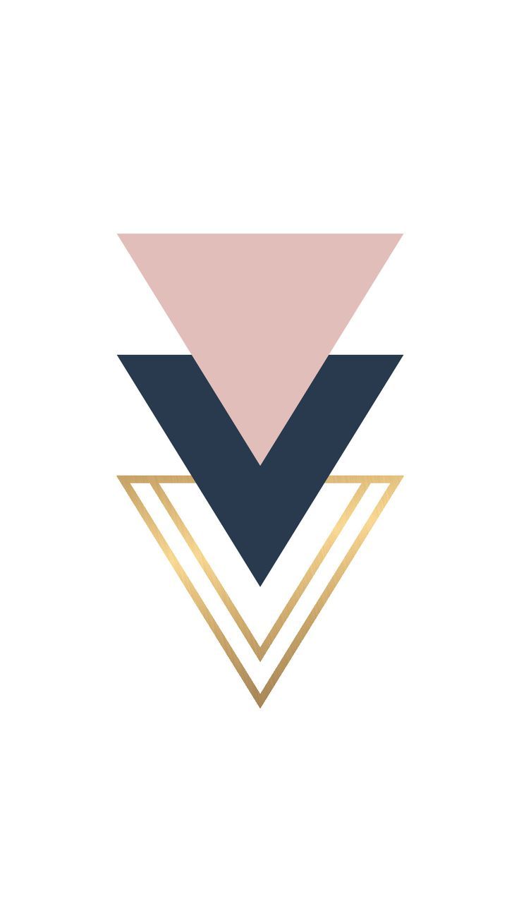 Blush Navy gold foil triangle geo shapes wallpaper you can download for free on the blog! For any device; mobile, desktop, iphone, android!