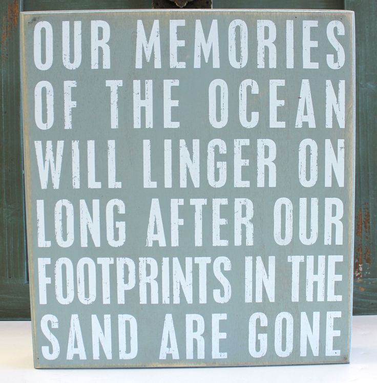 """Do you remember your last visit to your favorite beach? A twist on the classic saying brings a bit of your beach memories home with this wood box sign that is a fun accent piece and can freestand or hang for wall display. Measuring 11"""" x 10"""" x 1.75""""d it would make a great gift or conversation piece.  Primitives by Kathy from California Seashell Company"""
