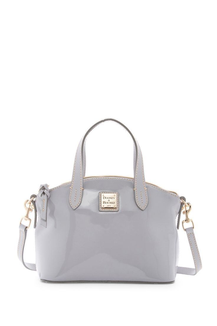 Cool grey Dooney & Bourke Patent Leather Ruby Satchel ...