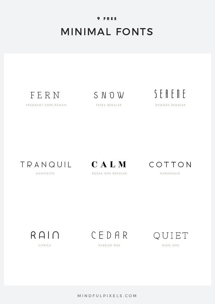 9 Free Minimal Fonts