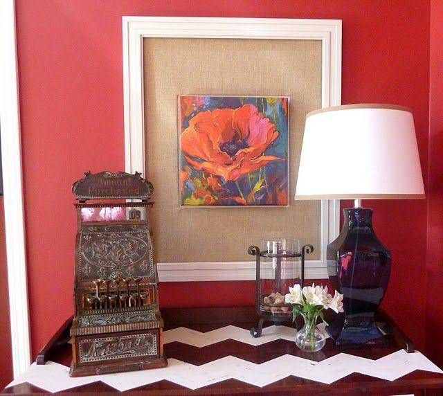 Custom Frame With Antique Cash Register. #hanging #art