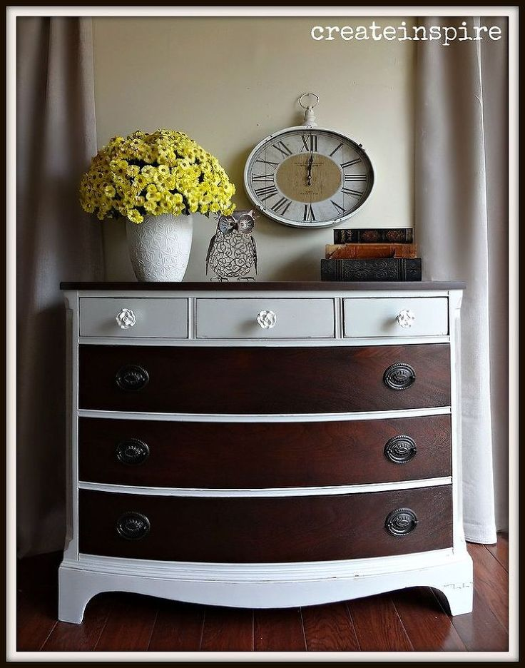 Dresser Makeover - I think this little dresser has lived an exciting life. It's had its