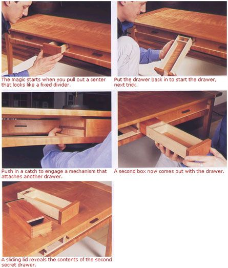 Wonderful Wooden Table With Secret Compartment Plans Plans Free