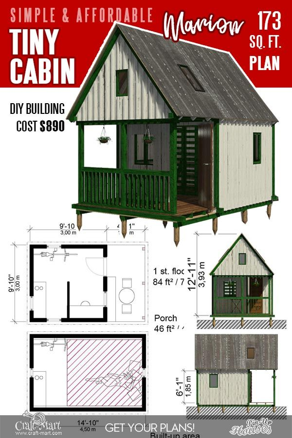 13 Best Small Cabin Plans With Cost To Build Craft Mart Tiny Cabin Plans Small Cabin Cabin Plans