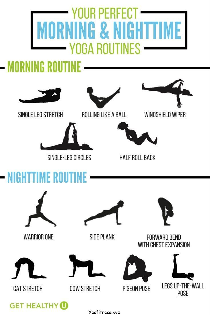 Here are your daily 10-minute yoga routines for both morning and nighttime!  These workouts will help improve posture, flexibility, balance and improve  your ...