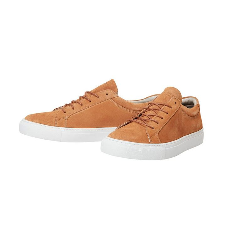 Spring calls for cool suede shoes! Available in camel and light grey | JACK & JONES